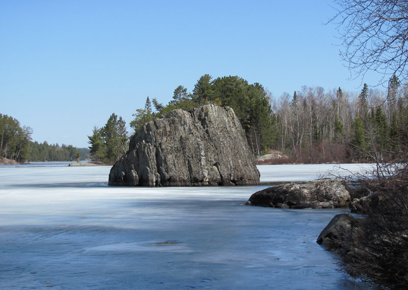 Spring Ice on Shagawa Lake Ely Minneosta End of April 2011